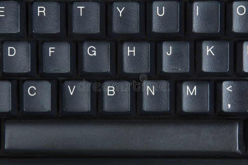 Computer keyboard. Black Computer keyboard close-up stock images