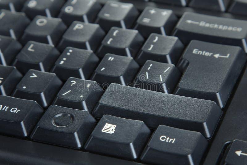 Computer keyboard. Black Computer keyboard close-up royalty free stock image