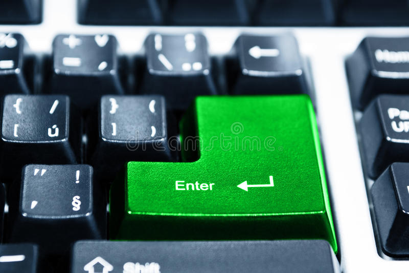 Computer keyboard. Close-up of black computer keyboard stock photography
