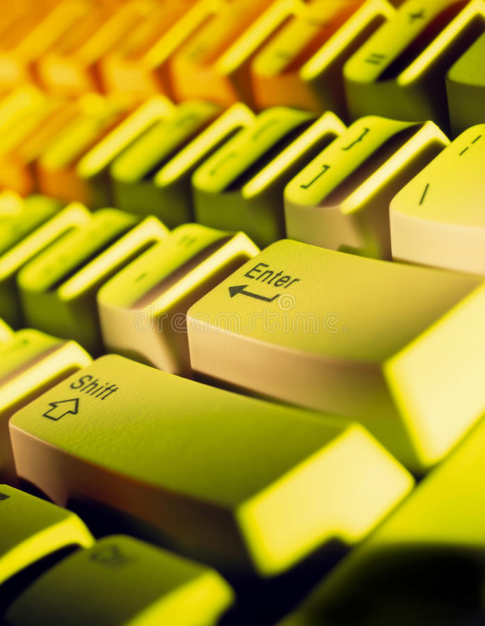 Computer keyboard closeup. With vivid color stock photo