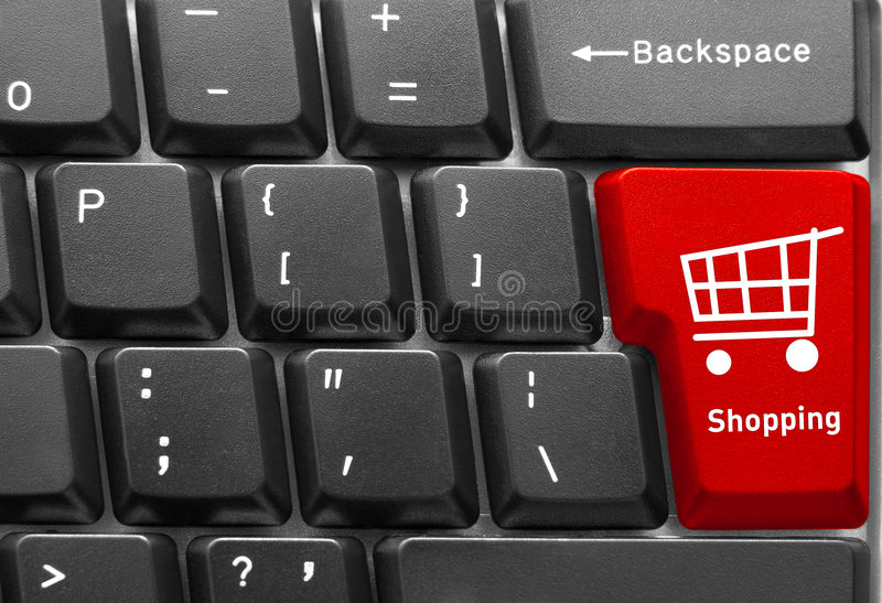 Computer keyboard concept stock photography
