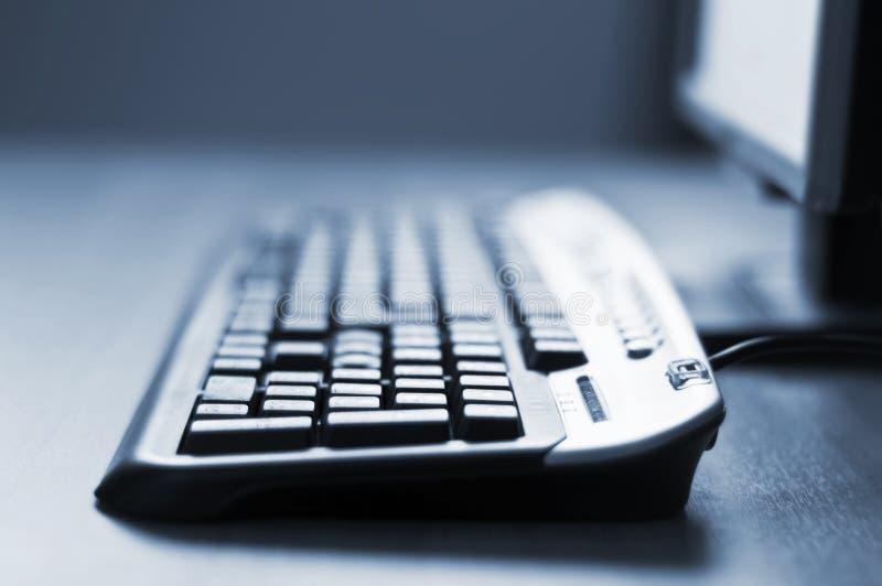 Computer keyboard detail background stock photo