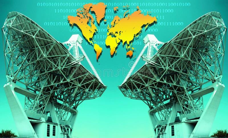 International Digital Communications royalty free stock photo