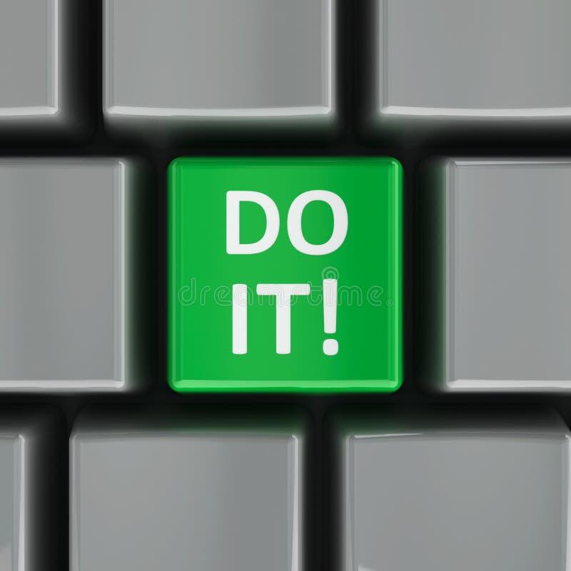 Computer keyboard do it stock illustration