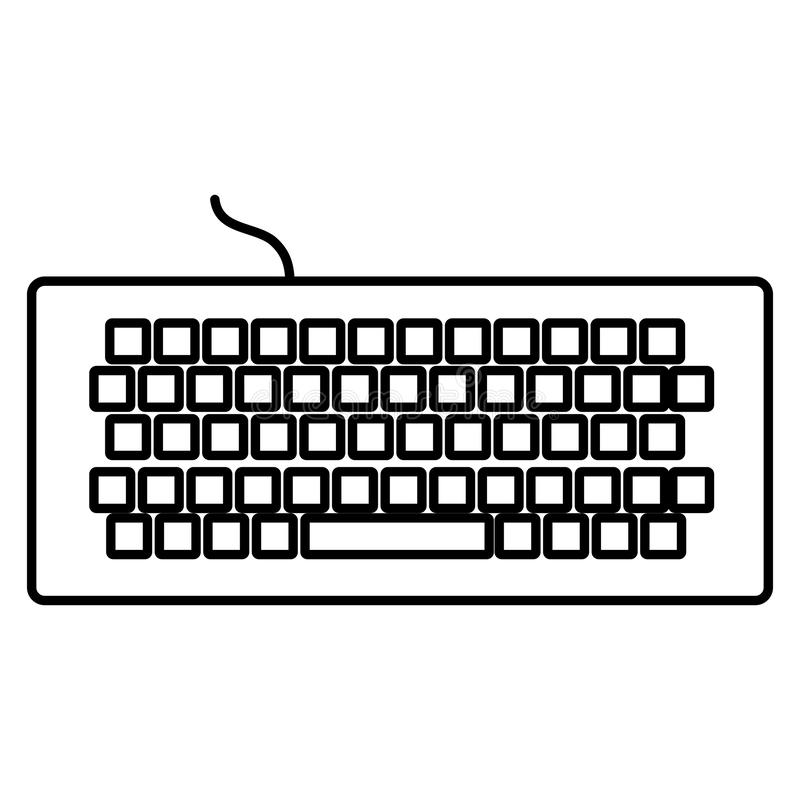 Computer keyboard isolated icon vector illustration