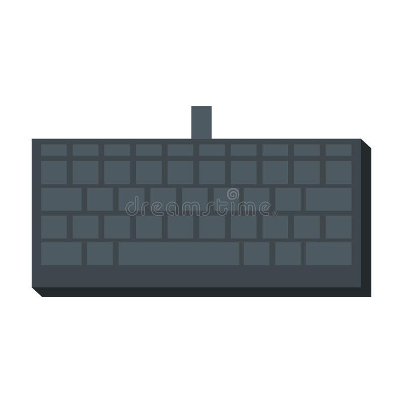 Computer keyboard isolated icon stock illustration