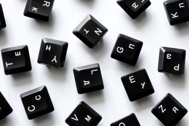 Computer keyboard keys. On white background close up stock photography