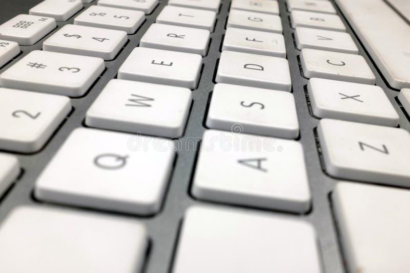 Computer keyboard in macro showing arrangement of keys stock photography