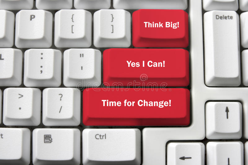 Computer Keyboard with Motivation Concepts royalty free stock photo