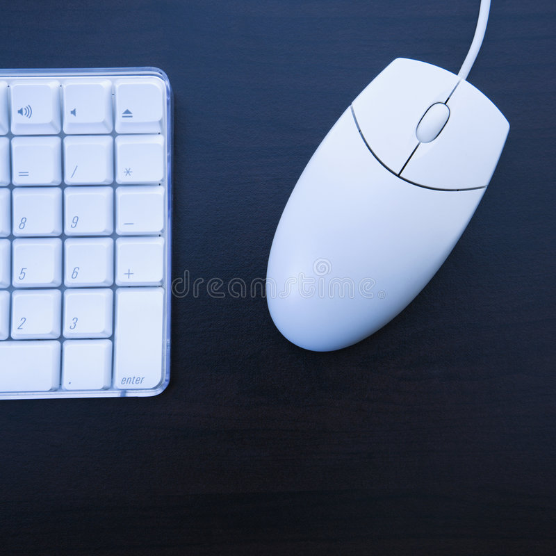 Computer keyboard and mouse. royalty free stock photography
