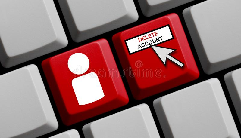 Computer Keyboard: Delete Account royalty free stock photos