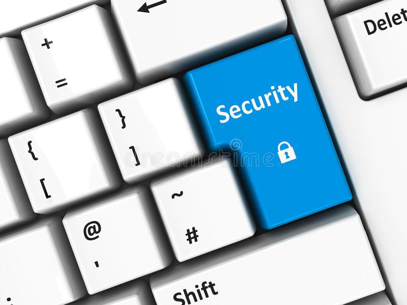 Computer keyboard security royalty free illustration