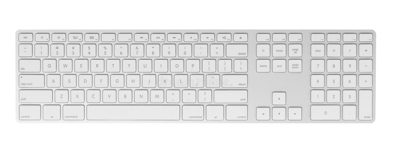 Computer keyboard on white background royalty free stock photos