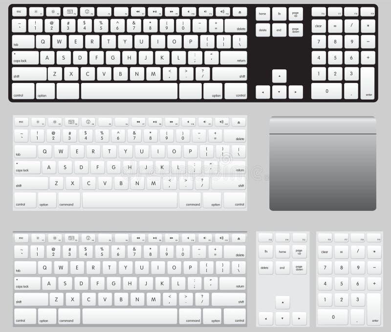 Download Computer Keyboards stock illustration. Illustration of number - 23954643