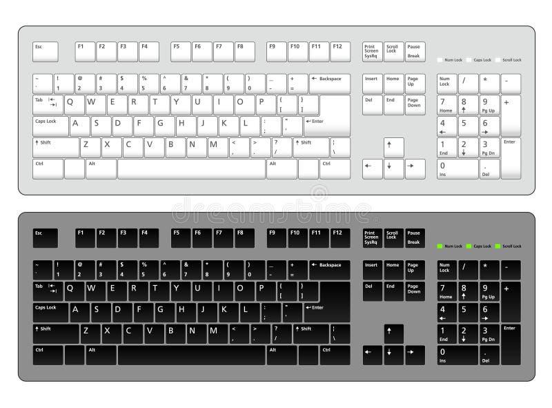 Download Computer Keyboards Illustration Stock Vector - Image: 7563273