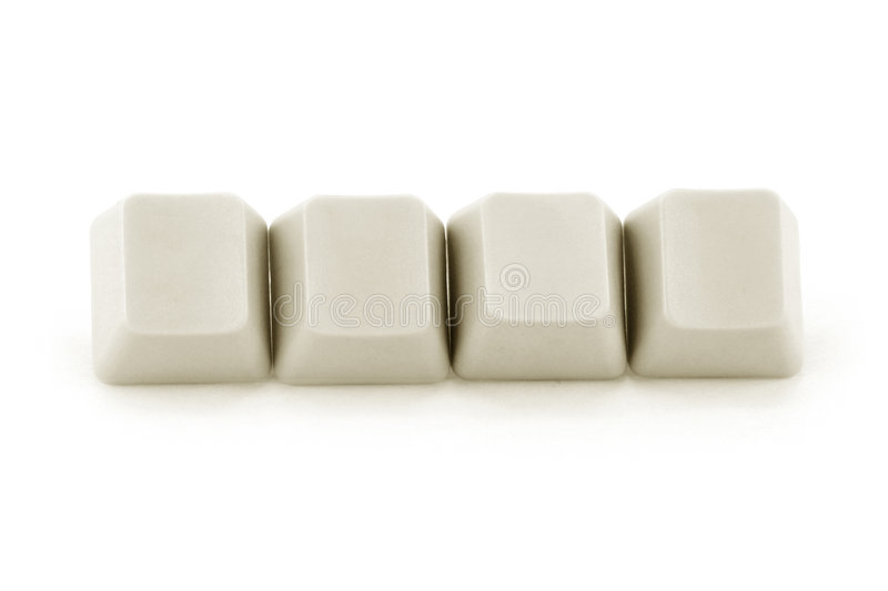 Computer keys. With white background stock photos
