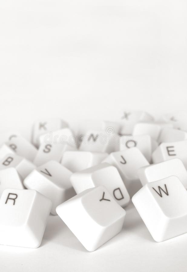 Computer keys stock images