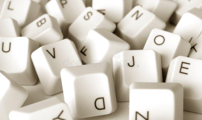 Computer keys. Close up of computer keys royalty free stock image