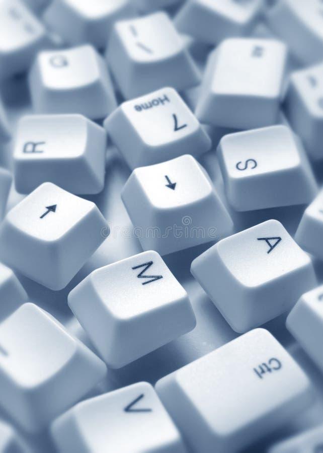Computer keys. Close up of computer keys stock image
