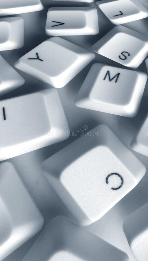 Computer keys. Close up of computer keys stock images