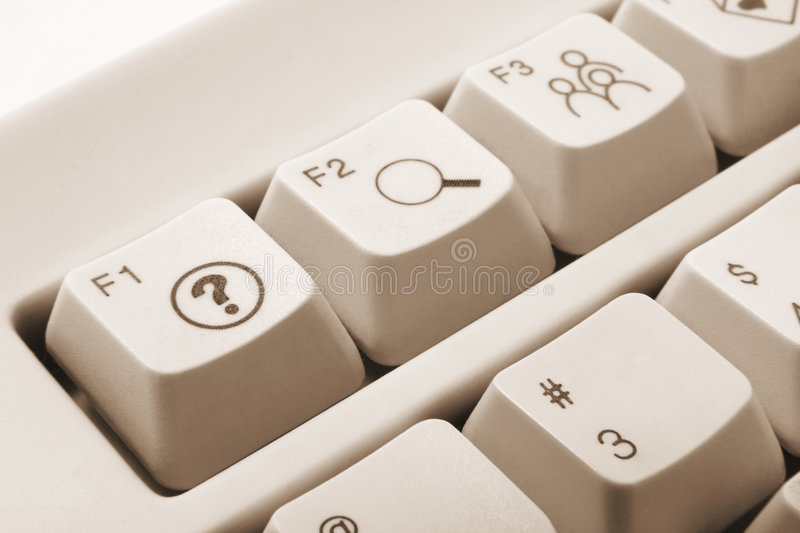 Computer Keys. Close Up of Computer keys in Warm Tone stock photography