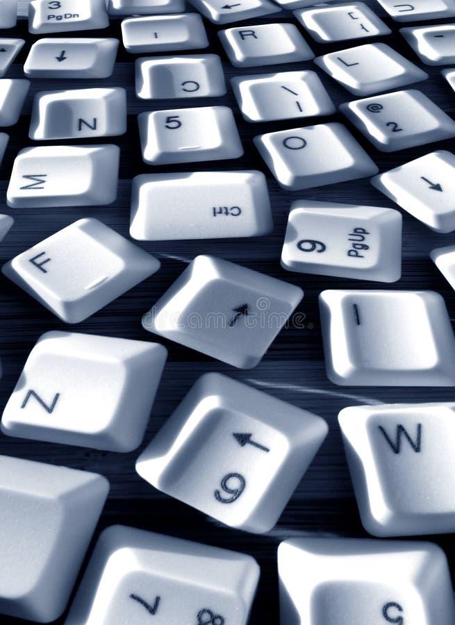 Computer keys. Close up of computer keys royalty free stock photo