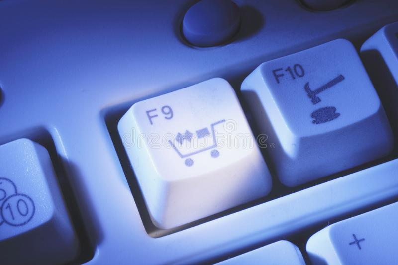 Computer Keys. In Blue Cast royalty free stock photos