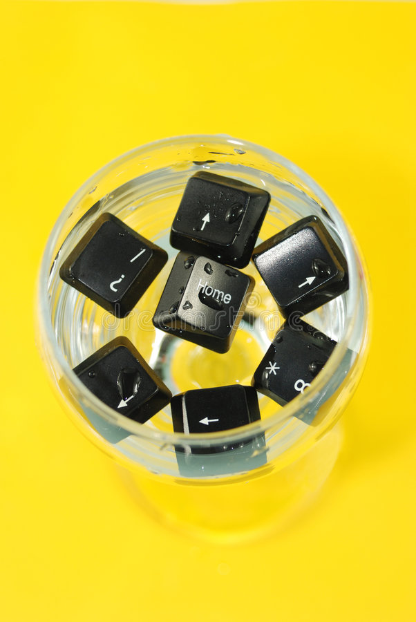 Computer Keys In Cup Stock Photography