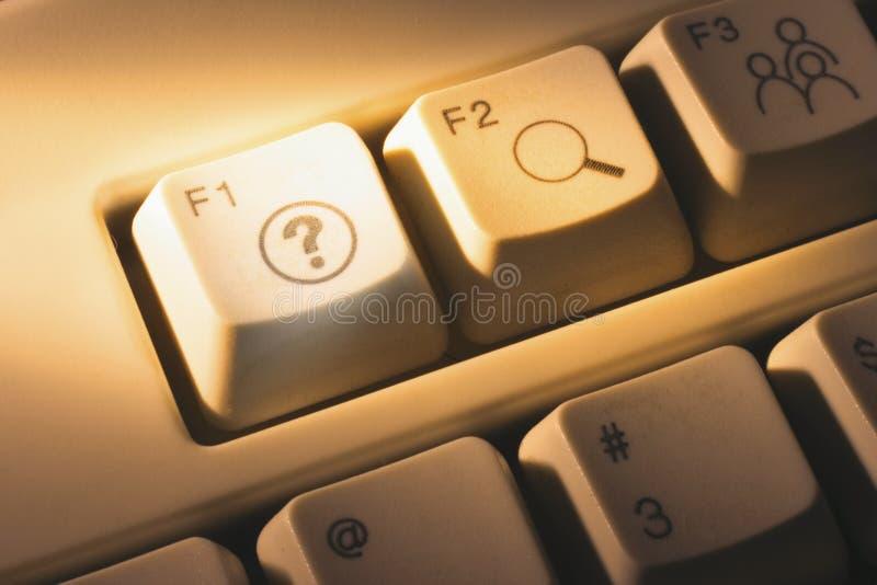 Computer Keys. In Warm Cast stock image