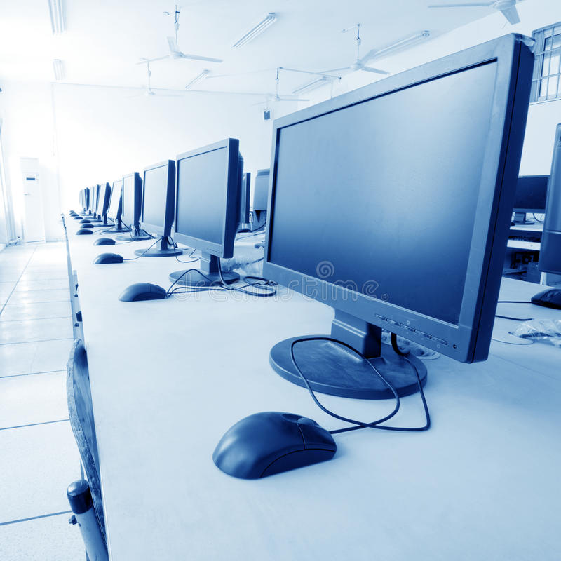 Download Computer Lab stock image. Image of perspective, monitor - 22700855