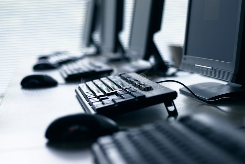 Computer Lab stock image