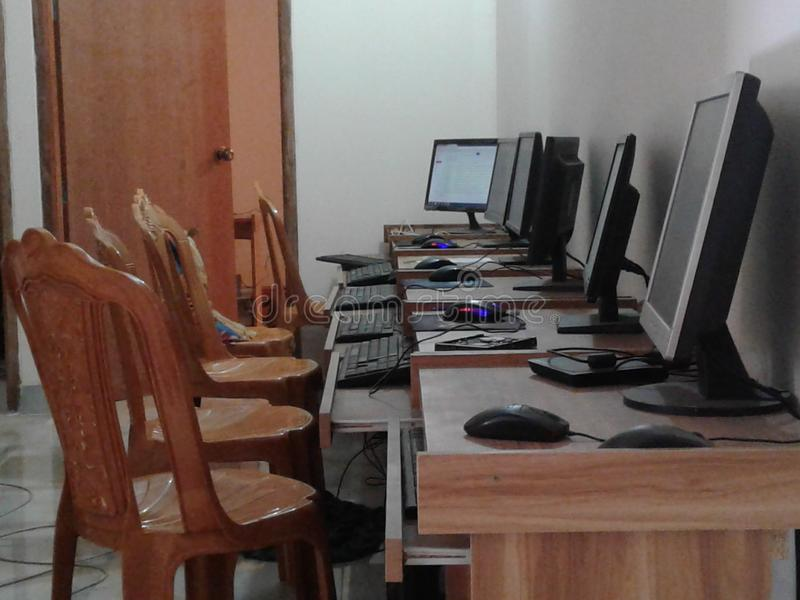 Computer lab royalty free stock photo