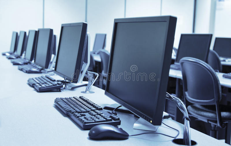 Download Computer Lab Stock Photo. Image Of Data, Classroom, Futuristic    31650214