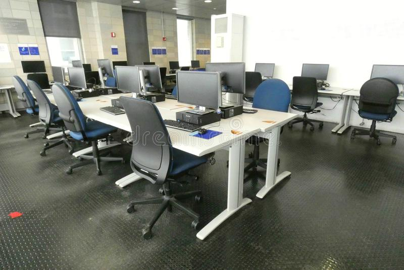 Computer-Labor stockfotografie