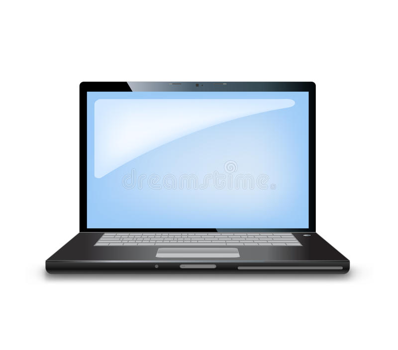 Computer laptop. Isolated on white vector illustration