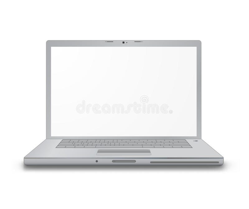 Computer laptop. Isolated on white