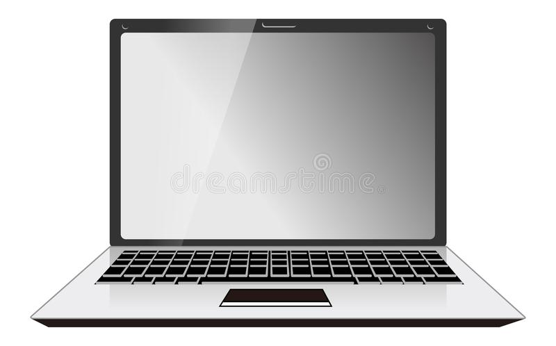 Computer Laptop Front View. Isolated on white background. Eps file is available royalty free illustration