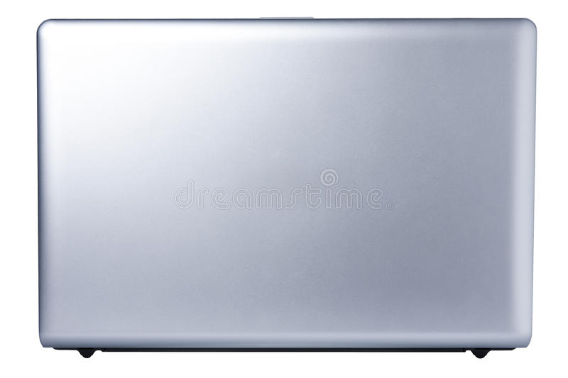 Computer Laptop Open Back View Isolated royalty free stock photography