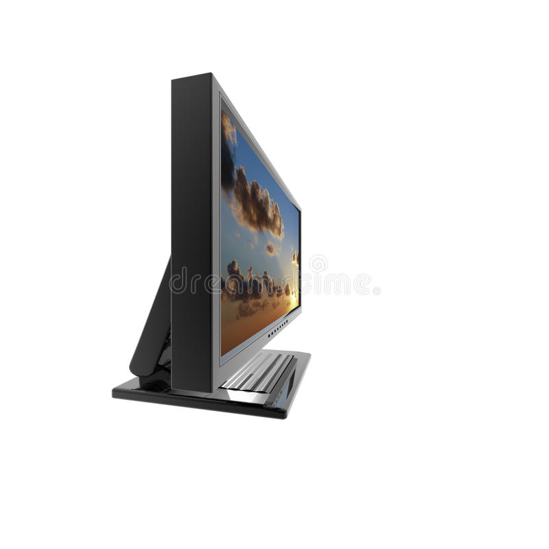Download Computer Lcd Flat Monitor Isolated On White Stock Illustration - Image: 9665328