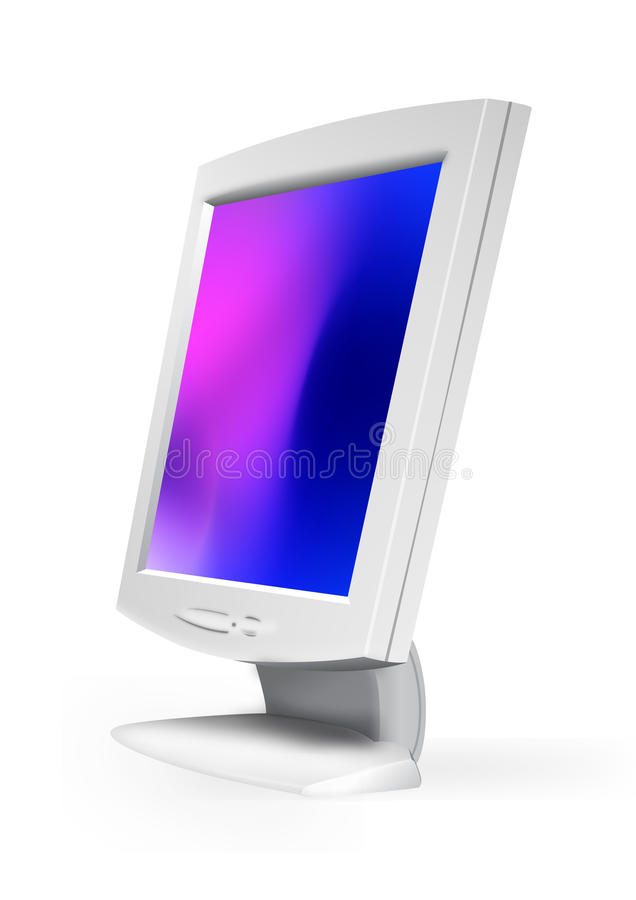 Download Computer lcd monitor stock vector. Illustration of television - 10437941