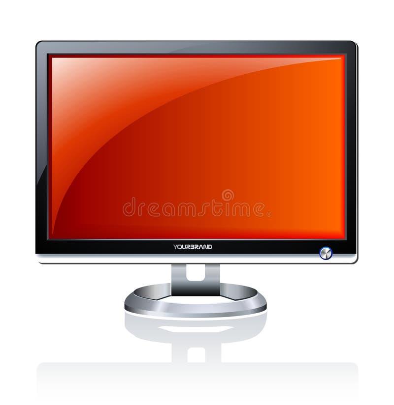 Computer LCD monitor stock illustration
