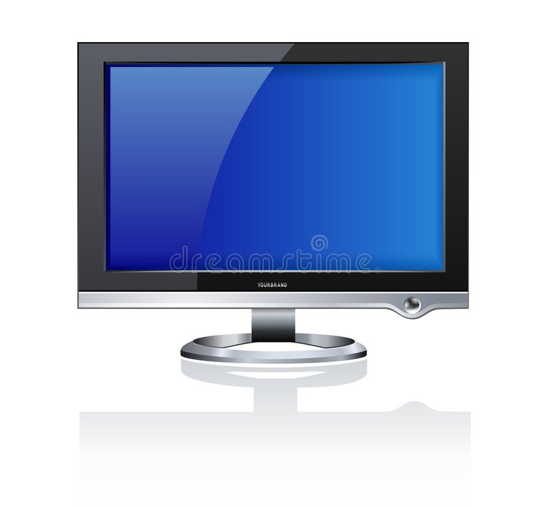 Computer LCD Monitor Stock Images