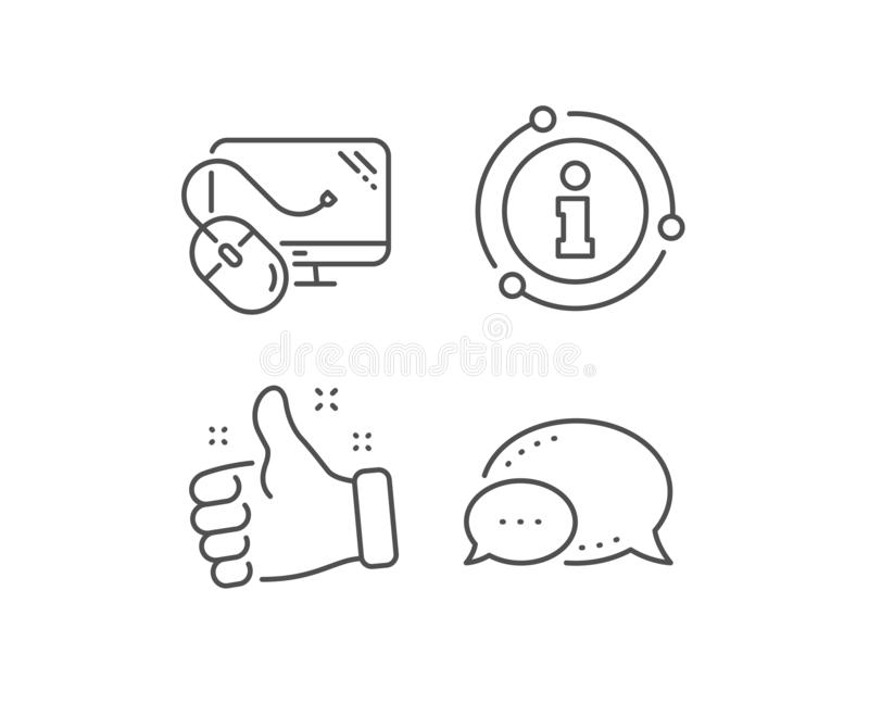Computer line icon. PC mouse component sign. Monitor symbol. Vector stock illustration
