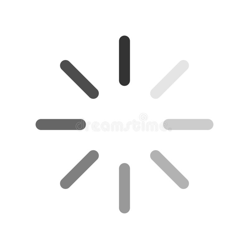 computer loading icon balck and white background stock illustration