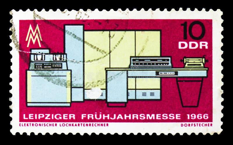Computer-Lochkarten, Leipzig-Frühling angemessenes serie, circa 1966 stockbild
