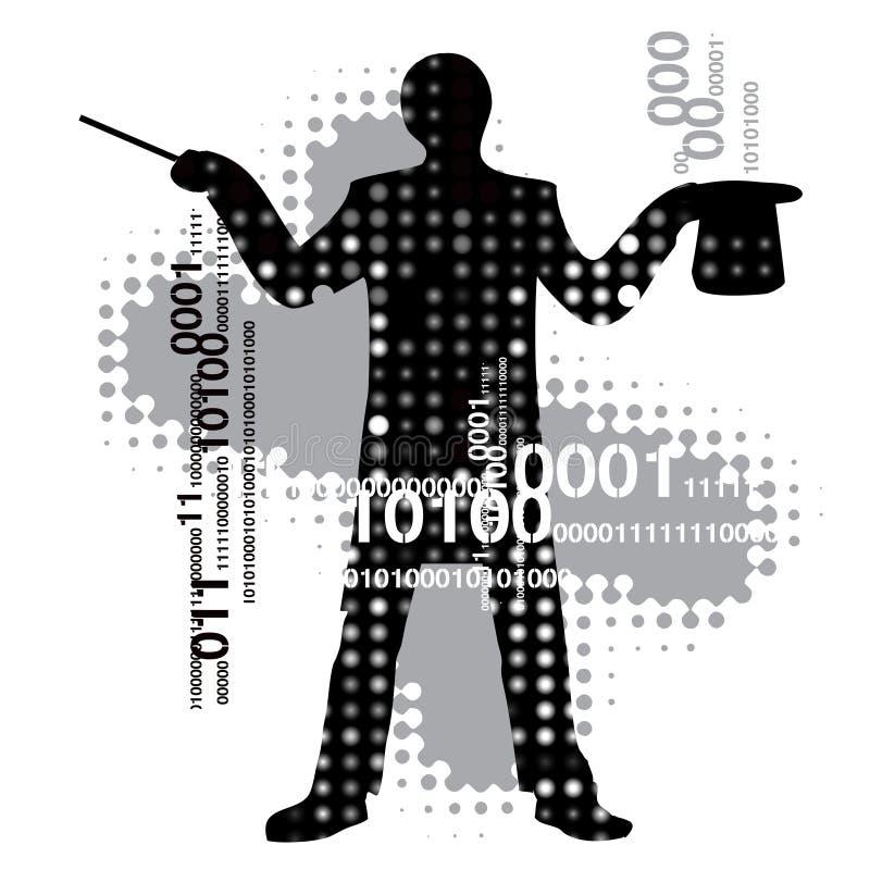 Computer_magician stock de ilustración