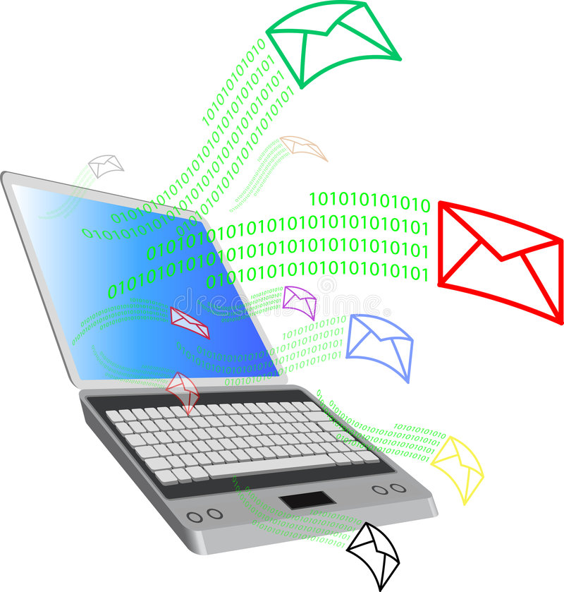 Computer and mail2 royalty free illustration
