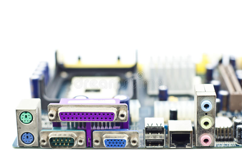 Computer main board. royalty free stock photos