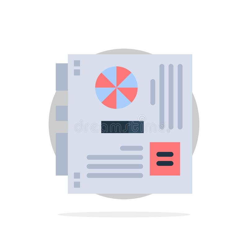 Computer, Main, Mainboard, Mother, Motherboard Abstract Circle Background Flat color Icon royalty free illustration