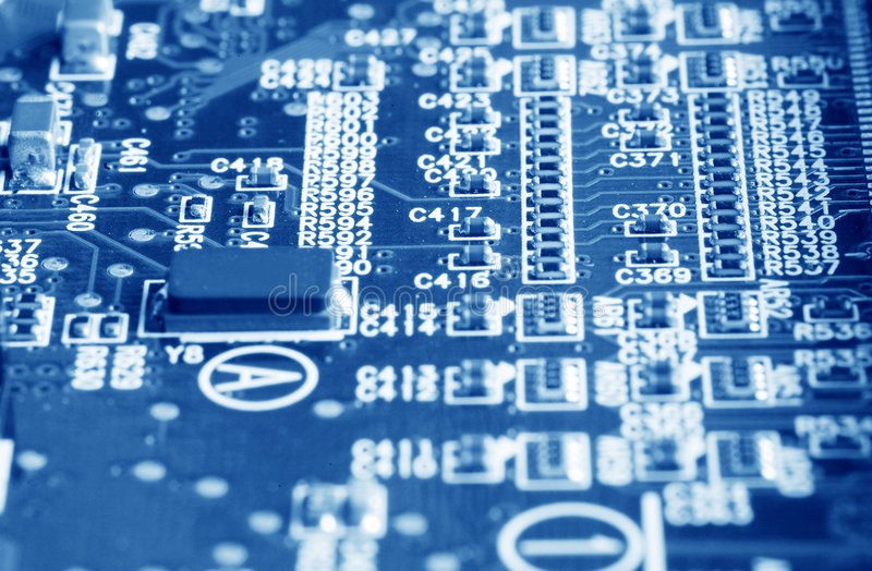 Computer mainboard royalty-vrije stock foto's